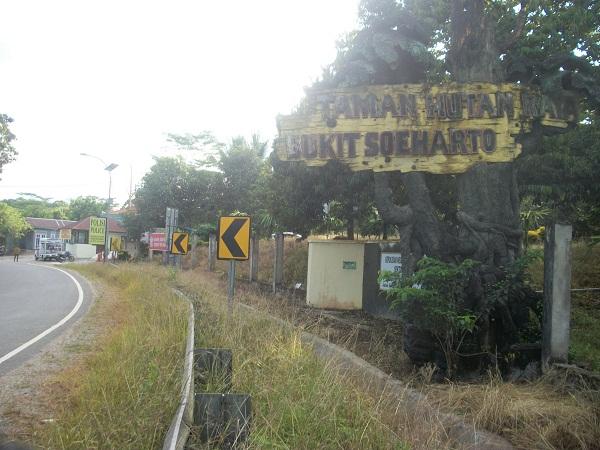 Pintu masuk Tahura Sujarto Kaltim, yang semarak dengan banyak kepentingan eksploitasi I Dokumentasi Pribadi
