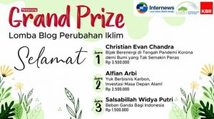 Pemenang Grand Prize Lomba Blog Perubahan Iklim KBR