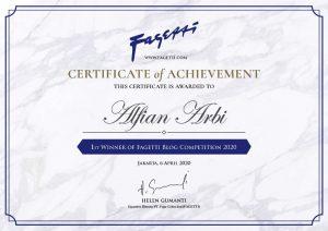 Juara 1 Blog Kompetisi Fagetti