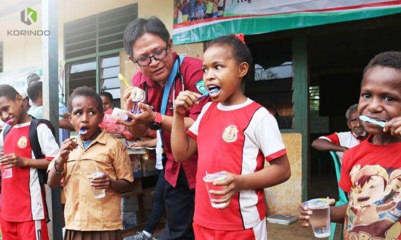 Edukasi kesehatan bagi anak-anak yang digencarkan pada program CSC Korindo I Korindo