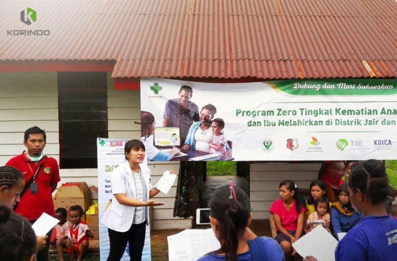 Edukasi kesehatan yang dilakukan tim Klinik Asiki yang menjangkau banyak kampung di Bavon Digoel I Korindo