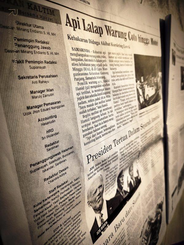 Koran Kaltim menghadirkan tim redaksi yang dapat dipercaya dengan sajian informatif I Dokumentasi Pribadi