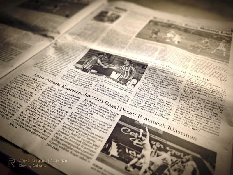 Rubrik Olahraga yang pasti disuka di Koran Kaltim I Dokumentasi Pribadi