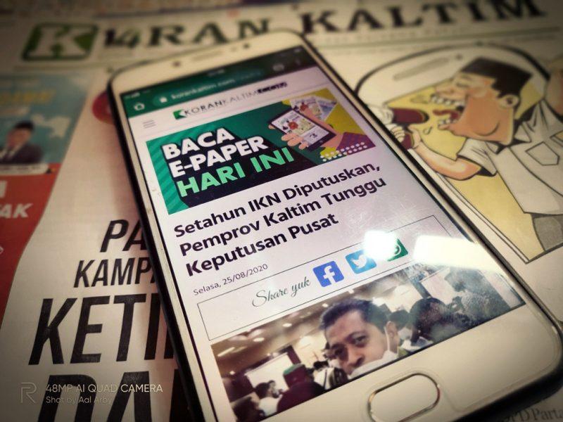 Korankaltim.com memberikan kemudahan dalam layanan media onlinenya I Dokumentasi pribadi
