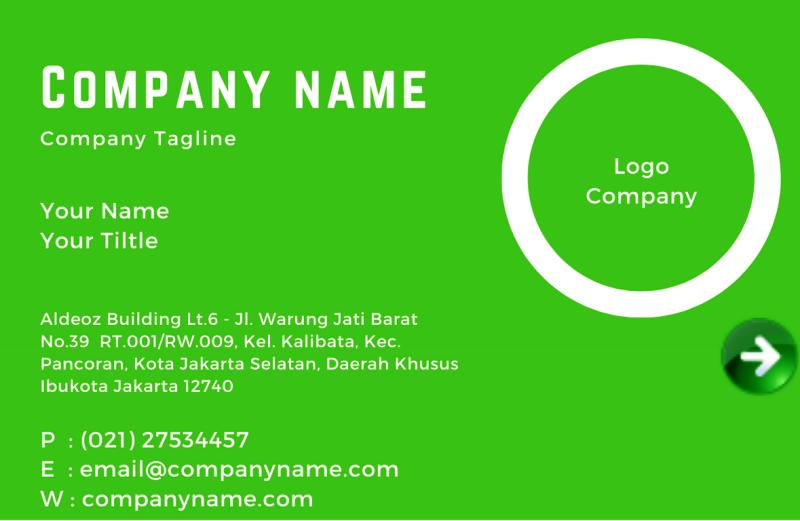 Contoh penggunaan alamat virtual office di kartu nama kita I VoSpace