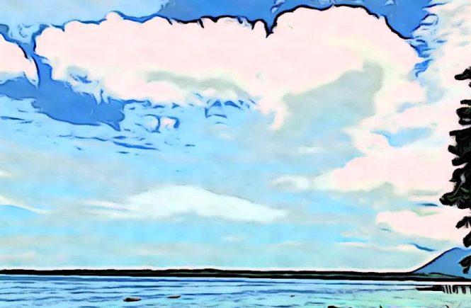 Ilustrasi langit biru